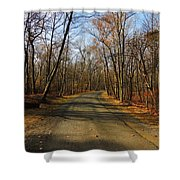 Late Fall At Cheesequake State Park Shower Curtain