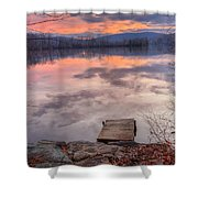 Late Fall Early Winter Shower Curtain