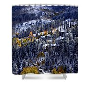 Late Fall In Vail Shower Curtain