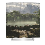 Late Jurassic East Africa With A Host Shower Curtain