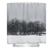 Late Migration Shower Curtain