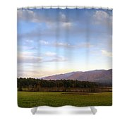 Late October Dusk At Cades Cove Shower Curtain
