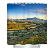 Late Spring Time View Shower Curtain by Robert Bales