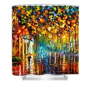 Late Stroll Miami Shower Curtain