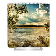 Late Summer Afternoon On The Mississippi Shower Curtain