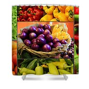 Late Summer Harvest Shower Curtain