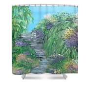 Late Summer On The White River Shower Curtain