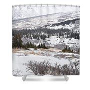 Late Winter Storm Shower Curtain