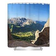 Latemar Mount From Vaiolon Pass Shower Curtain