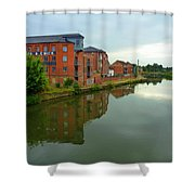 Latimer And Crick Building In Northampton Shower Curtain