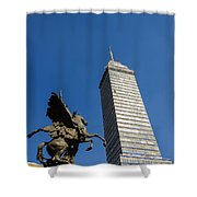 Latin American Tower And Statue Shower Curtain