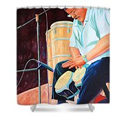 Latin Jazz Musician Shower Curtain