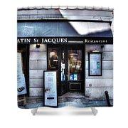 Latin St Jacques Paris France Shower Curtain
