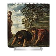 Latona Changing The Lycian Peasants Into Frogs Shower Curtain