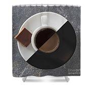 Latte Or Espresso Shower Curtain