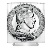 Latvia Crown Shower Curtain by Fred Larucci