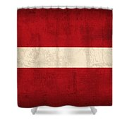 Latvia Flag Vintage Distressed Finish Shower Curtain