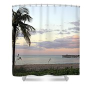 Lauderdale By The Sea Florida Sunset Shower Curtain