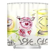 Laugh Love Glow Shower Curtain