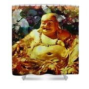 Laughing Buddha  Shower Curtain