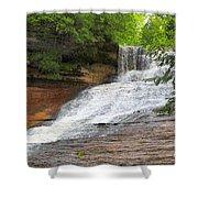 Laughing Whitefish Waterfall Shower Curtain