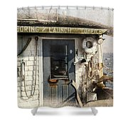 Launch Office Mcmillian Wharf Provincetown Shower Curtain