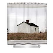 Laundress House At American Camp Shower Curtain