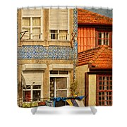 Laundry Day In Porto - Photo Shower Curtain