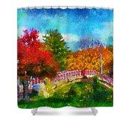 Laura Bradley Park 1922 Japanese Bridge 02 Shower Curtain