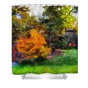 Laura Bradley Park Japanese Garden 02 Shower Curtain