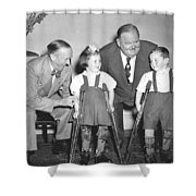 Laurel And Hardy In Ireland Shower Curtain
