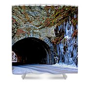 Laurel Creek Road Tunnel Shower Curtain