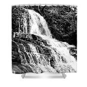 Laurel Falls Smoky Mountains 2 Bw Shower Curtain