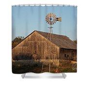 Laurel Road Barn Shower Curtain