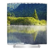 Laurentian Summer Morning Shower Curtain