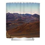 Lava Color Shower Curtain