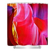 Lava Floe  In Lower Antelope Canyon In Lake Powell Navajo Tribal Park-arizona  Shower Curtain