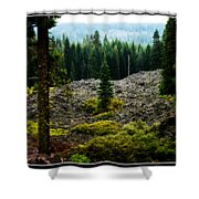 Lava Flow Frozen In Time Shower Curtain