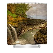 Lava Inlet Shower Curtain