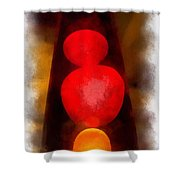 Lava Lamp Photo Art 04 Shower Curtain