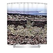 Lava Landscaped Shower Curtain