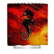 Lava Loving Seahorse Shower Curtain