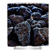 Lavafrost Shower Curtain by Benjamin Yeager