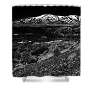 Lavascape Shower Curtain by Benjamin Yeager