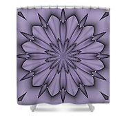 Lavender Abstract Flower Shower Curtain
