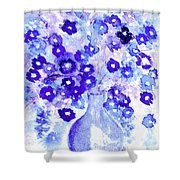 Lavender And Blue Impressions Of Spring Shower Curtain