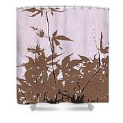 Lavender And Taupe Haiku Shower Curtain