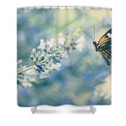 Lavender And The Butterfly Shower Curtain