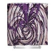 Lavender Bead Art Shower Curtain