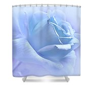 Lavender Blue Rose Flower Shower Curtain